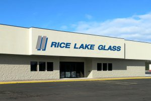 New Rice Lake Glass Building