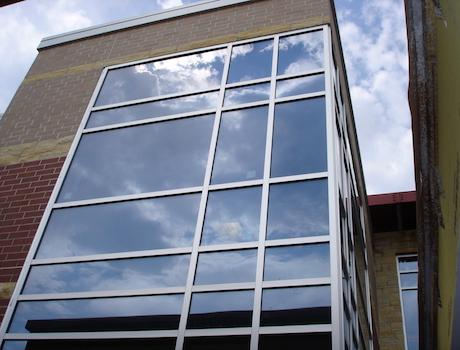 window installation at a hospital
